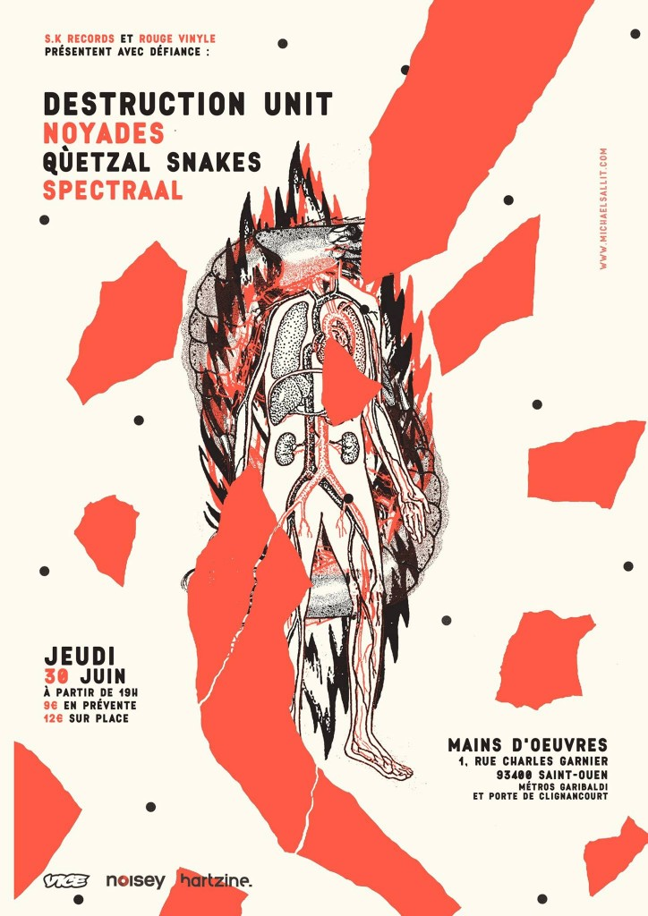 DESTRUCTION UNIT / NOYADES / QUETZAL SNAKES / SPECTRAAL